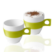 Nescafé Dolce Gusto Cappuccino Cup, Porcelain, 2 Pack, Coffee, 220 ml