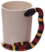 Fun Snake Shaped Handle Water Snake Ceramic Mug