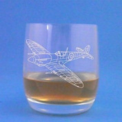 Stolze Weinland Whisky Glass With Spitfire Fighter Design with gift box
