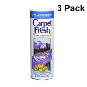Carpet Fresh, Rug and Room Deodorizer with Baking Soda Mountain Essence Fragrance 410ml