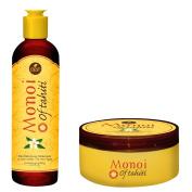 Monoi of Tahiti Revitalising Deep Hair Mask 260ml and Monoi of Tahiti Revitalising Shampoo 310ml Variety Pack
