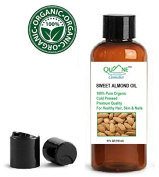 QUANE COSMETICS Organic Sweet Almond Oil | 100% Pure , Cold Pressed for Soft Moisturised Skin & Hair Disc Cap 120ml