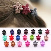 24PCS Assorted Mini Hair Claw Clips Flower Hair Pin for Baby Girl Kids Colour Random