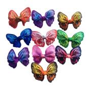 Colourful Butterfly Hair Clip Mini Hair Clip Set Little Girl Hair Accessory
