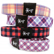 Hair Ties For Guys | Superior, No-Rip, No-Slip Hair Ties for All Hair Types | 'The Good, The Plaid & The Flannel' Plaid Collection