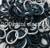 200 Mini Hair Elastics, Small Hair Ties