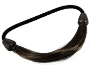 kathy Store INC 1pc Faux Wig Hair Elastic Rope Ring Hairband Hair Band Ponytail Holder - Black A