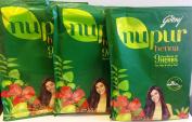 Godrej Nupur Henna Powder 9 Herbs Blend, 120-grammes X 3 packs