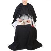 UEETEK Barbers Hairdressing Cape Gown Waterproof Salon Cape with Viewing Window for Hair Cutting