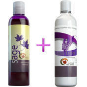 Sulphate Free Shampoo And Tea tree Oil Conditioner Set - Anti Dandruff Natural Sage Shampoo For Coloured Hair 100% Pure For Healthy Hair Growth - Nourishing Natural Hair Care For Men & Women