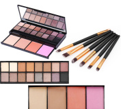 Vodisa 20 Colour Professional Makeup Palette with Eyeshadow, Bronzer, Blush, Brush and Mirror Waterproof Nature Glow Matte Eye Shadows Kit with 6pcs Make Up Brushes Cosmetics Shimmer Eye Shadow Pallets