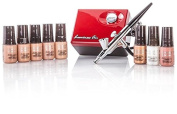 Luminess air micro airbrush system - red & black