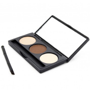 Eyeshadow,Mandy Eyebrow Powder Palette Makeup Shading Kit+Brush+Mirror
