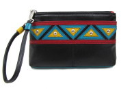 ili Leather 6860 Wristlet Handbag with RFID Lining