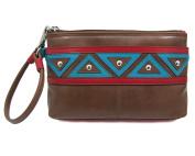 ili Leather 6860 Wristlet Handbag with RFID Lining