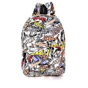 Urmiss Graffiti Printed Canvas Casual Backpack Travel Shoulder Bag Students Schoolbag College Rucksack