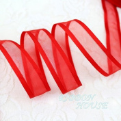 """FunnyPicker (10 Yards/Lot) 3/4""""(20Mm) Broadside Organza Ribbons Wholesale Gift Wrapping Decoration Ribbons Wholesale Red"""