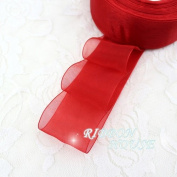 FunnyPicker (10 Yards/Lot) 40Mm Organza Ribbons Wholesale Gift Wrapping Decoration Christmas Ribbons Red