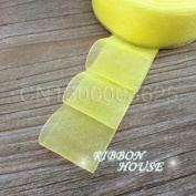 FunnyPicker (10 Yards/Lot) 40Mm Organza Ribbons Wholesale Gift Wrapping Decoration Christmas Ribbons Yellow
