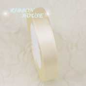 FunnyPicker (25 Yards/Roll) 15Mm Single Face Satin Ribbon Webbing Decoration Gift Christmas Ribbons Ivory