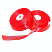 M-W 2.5cm Red Double Face Solid Satin Ribbon