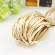 "FunnyPicker (20 Metres/Lot) 1/8"" (3Mm) Champagne Webbing Decoration Ribbon Single Face Satin Ribbon Gift Christmas Ribbons"