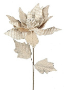 70cm Sackcloth Poinsettia Floral Pick With Mini Cheque