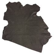 Hide - Genuine Spanish Full Skin - Black Colour - 0.7sqm - 60ml avg Thickness - Textured Finish - Lambskin - Improve The Look of Your Leather Projects Now!