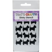 That's Crafty Dinky Stencil 7.6cm x 12cm -Suesue The Cairn