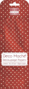Red Polka Deco Mache x 3 Tissue Patch Paper Sheet First Edition Craft