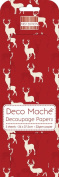 Red Stag Deco Mache x 3 Tissue Patch Paper Sheet First Edition Craft