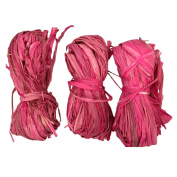 Natural Raffia 3 Bundle Pack Pink