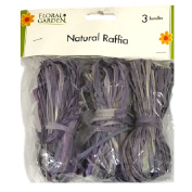 Natural Raffia 3 Bundle Pack Violet