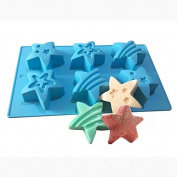 Tyoungg Cute Silicone Bath Bomb Mould Fizzies Star Mould Soap Mould 6 Cavity