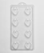 16 Cavity Striped Heart Soap/Bath Bomb Mould K06 x 5