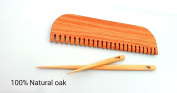 20cm weaving comb with 2 needles