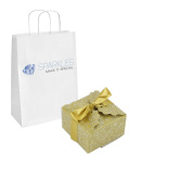 Sparkles Make It Special 200-pcs Large Ribbon Favour Candy Boxes Wedding Gift Candy Boxes Gold