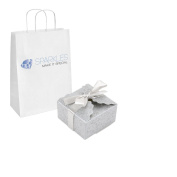 Sparkles Make It Special 100-pcs Large Ribbon Favour Candy Boxes Wedding Gift Candy Boxes Silver