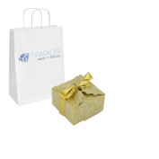 Sparkles Make It Special 50-pcs Large Ribbon Favour Candy Boxes Wedding Gift Candy Boxes Gold