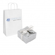 Sparkles Make It Special 50-pcs Large Ribbon Favour Candy Boxes Wedding Gift Candy Boxes Silver