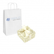 Sparkles Make It Special 200-pcs Large Ribbon Favour Candy Boxes Wedding Gift Candy Boxes Ivory