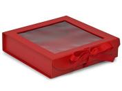 Nashville Wraps Folding Presentation Box with Window 18 Count - Large - Red