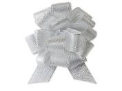 Nashville Wraps Metallic Gift Pull Bow 12 Count 11cm - Silver