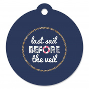 Last Sail Before The Veil - Nautical Bachelorette Party Favour Gift Tags