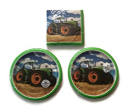 Tractor Time Birthday Party Plates (16) Lunch Napkins