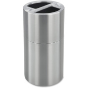 Safco 9931SS Dual Recycling Receptacle 113.6lStainless Steel