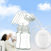 Electric Breast Pump,AnGeer Dual Breast Pump Automatic Massage Postpartum Prolactin