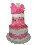 Pink Nappy Cake, Girl Baby Shower, It's a Girl Baby Shower, Baby Girl Pink Shower Decor