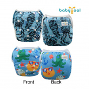 Babygoal Baby Swim Underwear for Baby, Reuseable Washable Adjustable Swiming Nappies ,Best Baby Gift Sets, Fit Babies 0-2 Years 2SWD3538