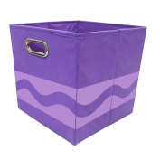 Modern Littles Crayola Tone Serpentine Storage Bin, Purple